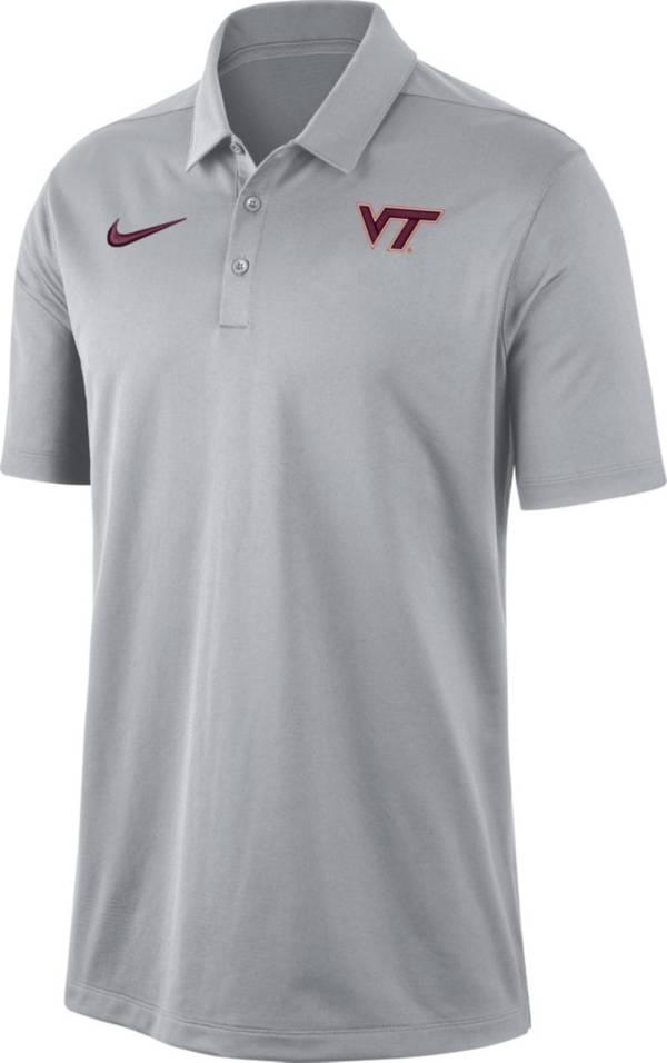 Nike Men's Virginia Tech Hokies Grey Dri-FIT Franchise Polo product image