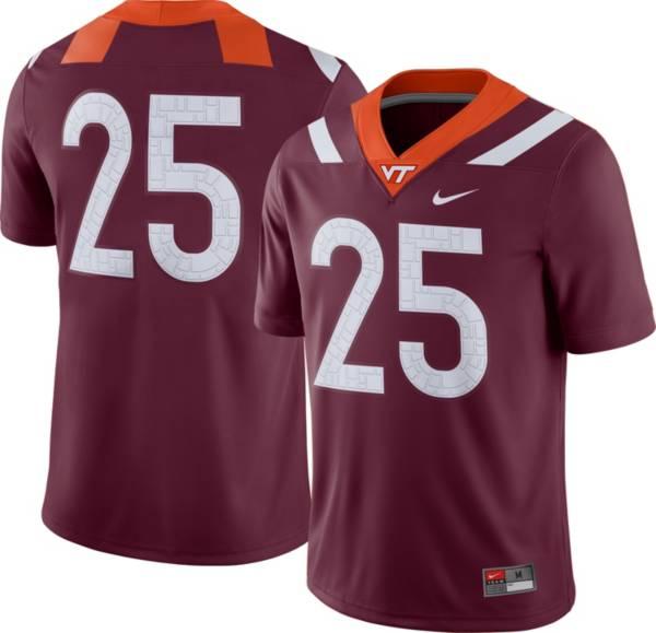 Nike Men's Virginia Tech Hokies #25 Maroon Dri-FIT Game Football Jersey product image