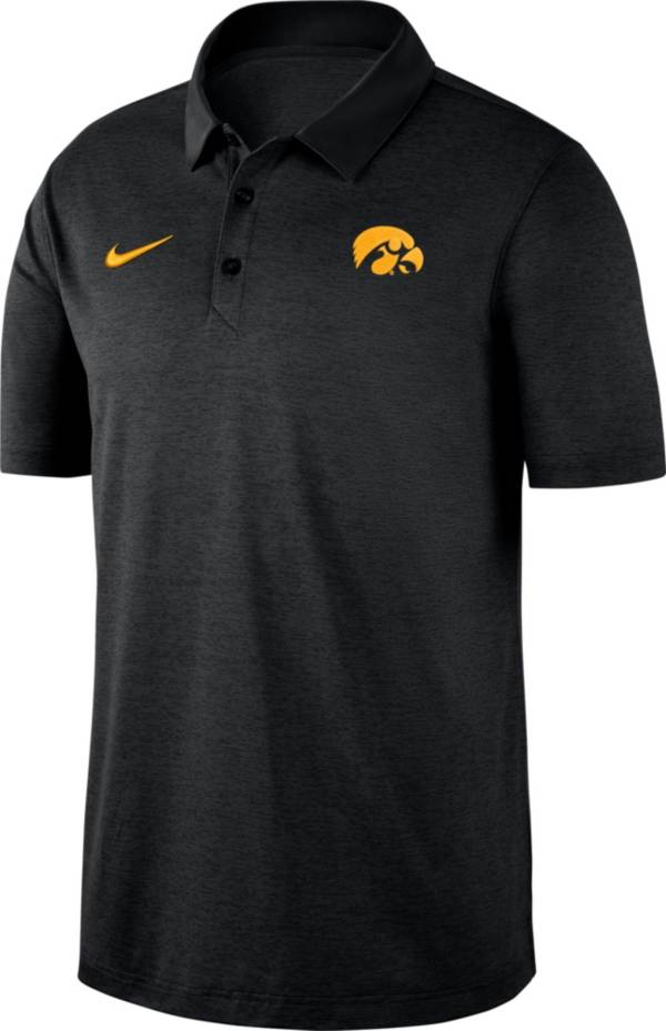 Nike Men's Iowa Hawkeyes Dri-FIT Breathe Black Polo product image