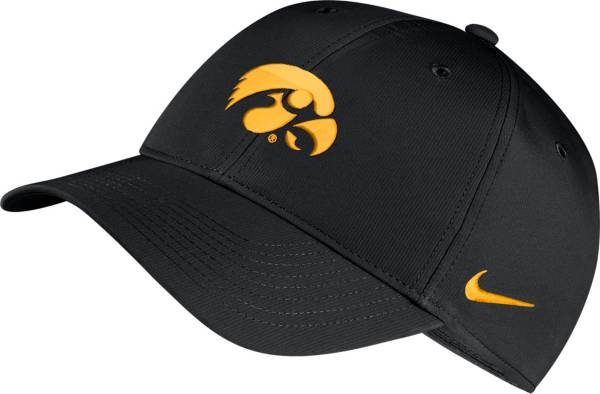 Nike Men's Iowa Hawkeyes Legacy91 Adjustable Black Hat product image