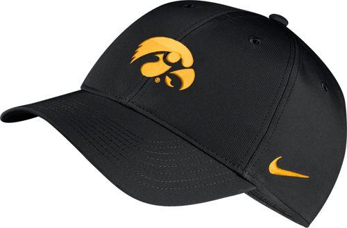 new products 635ac 31890 Nike Men s Iowa Hawkeyes Legacy91 Adjustable Black Hat