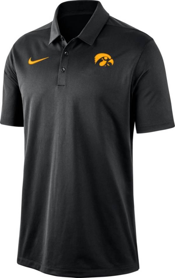 Nike Men's Iowa Hawkeyes Dri-FIT Franchise Black Polo product image