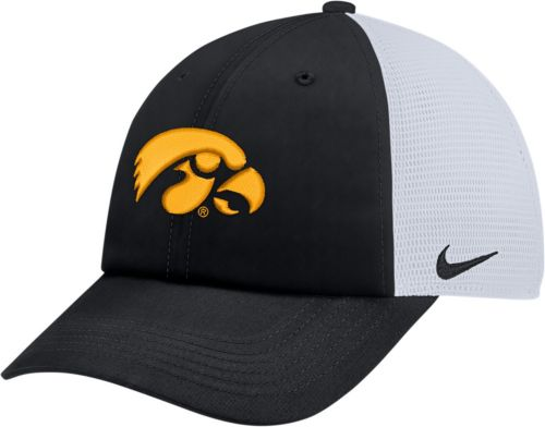 9ee94694c2d Nike Men s Iowa Hawkeyes Black Heritage86 Adjustable Trucker Hat ...
