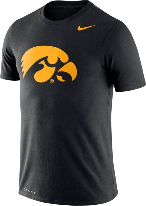 Nike Men's Iowa Hawkeyes Logo Dry Legend Black T-Shirt product image