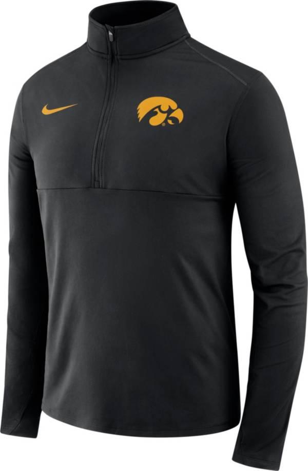 Nike Men's Iowa Hawkeyes Long Sleeve Core Black Half-Zip Pullover Shirt product image