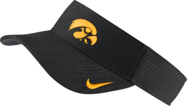 Nike Men's Iowa Hawkeyes AeroBill Football Sideline Black Visor product image