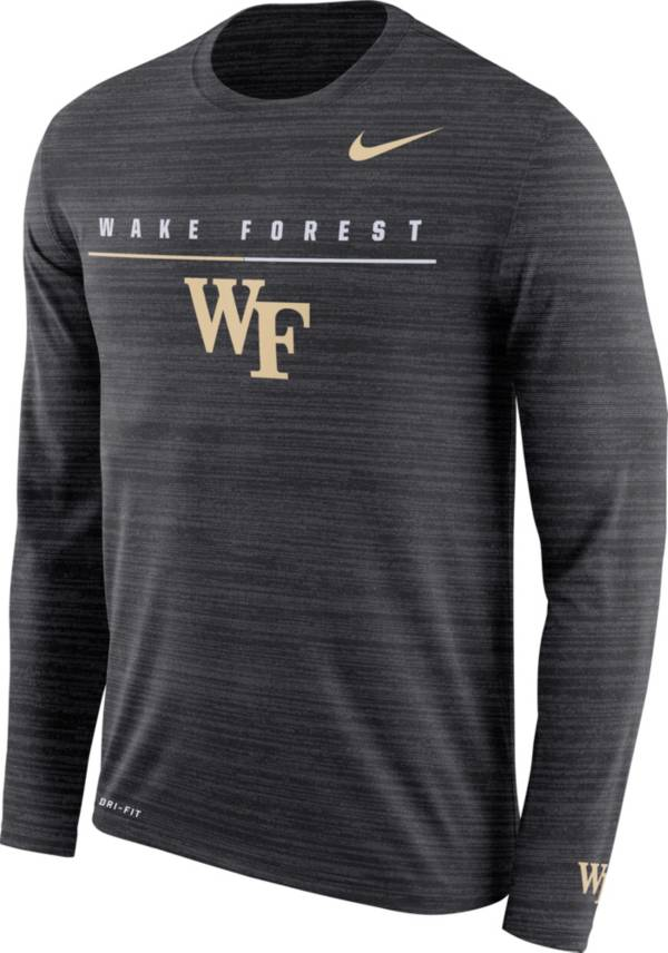 Nike Men's Wake Forest Demon Deacons Velocity Legend Graphic Long Sleeve Black T-Shirt product image