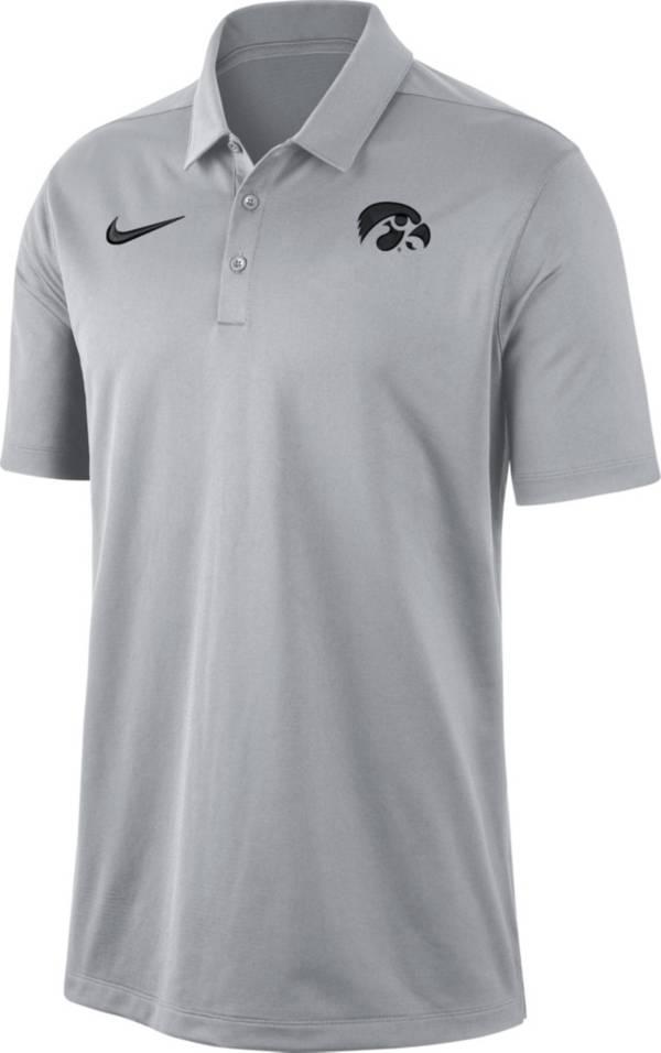 Nike Men's Iowa Hawkeyes Grey Dri-FIT Franchise Polo product image