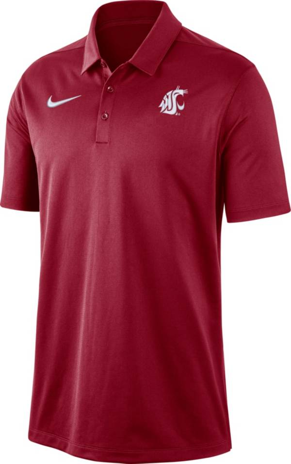 Nike Men's Washington State Cougars Crimson Dri-FIT Franchise Polo product image