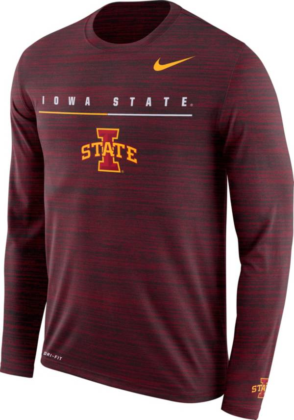 Nike Men's Iowa State Cyclones Cardinal Velocity Legend Graphic Long Sleeve T-Shirt product image