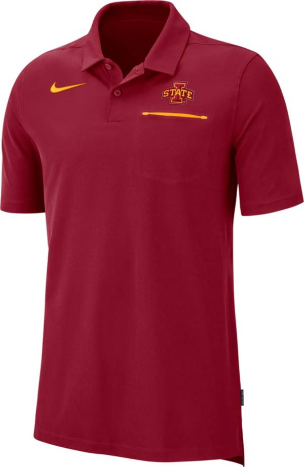 Nike Men's Iowa State Cyclones Cardinal Dri-FIT Elite Football Sideline Polo product image