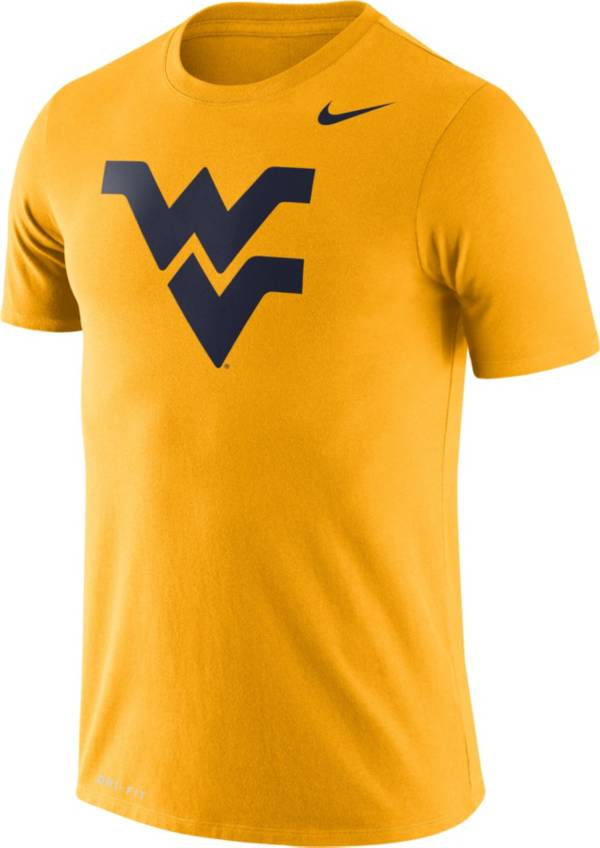 Nike Men's West Virginia Mountaineers Gold Logo Dry Legend T-Shirt product image