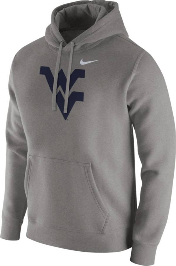 Nike Men's West Virginia Mountaineers Grey Club Fleece Pullover Hoodie product image