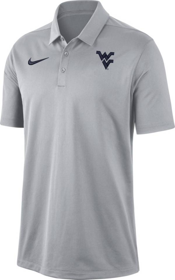 Nike Men's West Virginia Mountaineers Grey Dri-FIT Franchise Polo product image