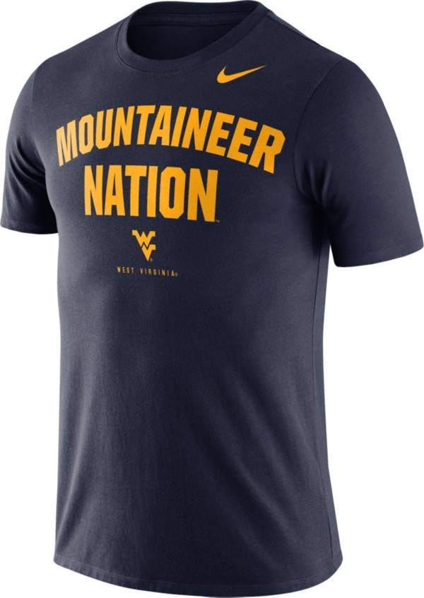 Nike Men's West Virginia Mountaineers Blue Dri-FIT Phrase T-Shirt product image