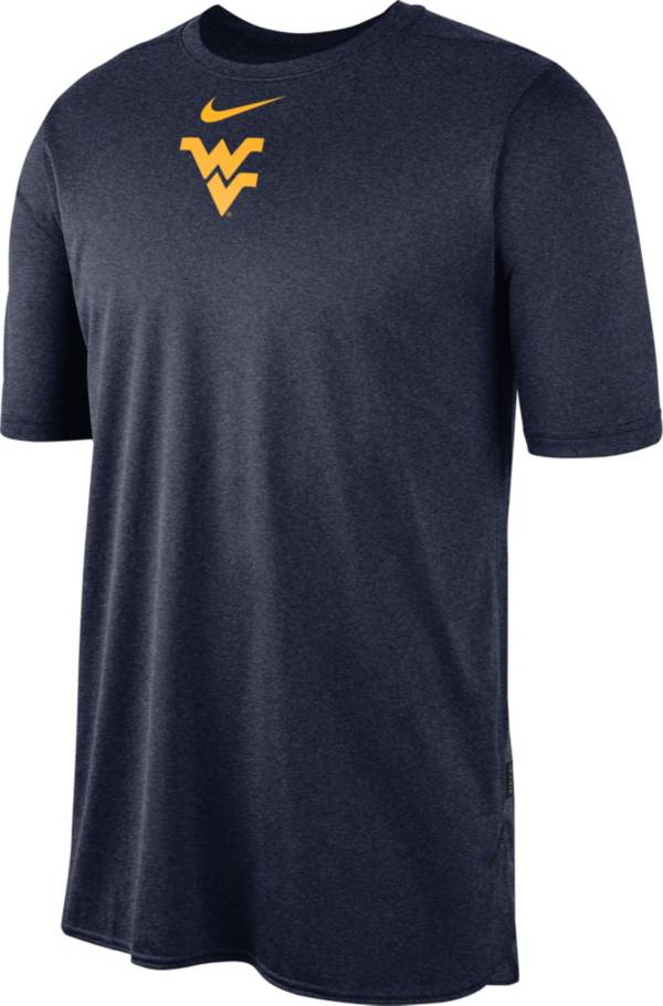 Nike Men's West Virginia Mountaineers Blue Player Dri-FIT TechKnit T-Shirt product image