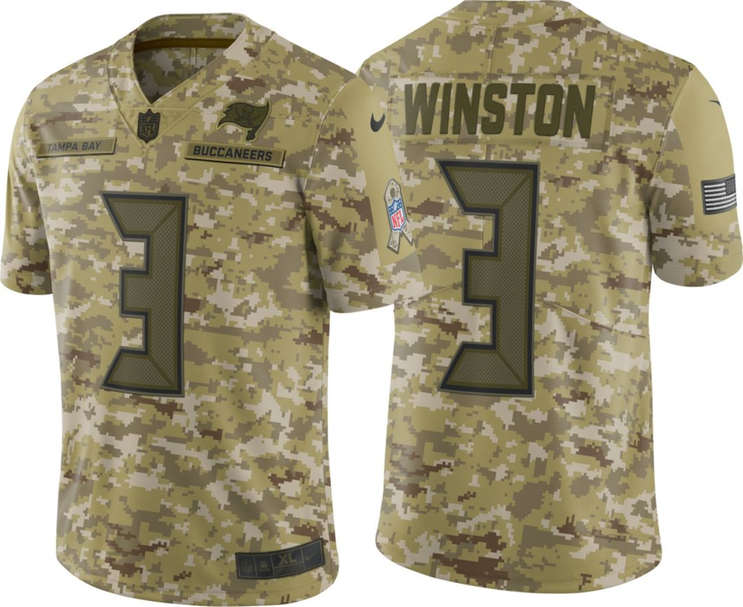 8ba29ef6a Nike Men's Salute to Service Tampa Bay Buccaneers Jameis Winston #3  Camouflage Limited Jersey. noImageFound. Previous