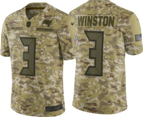 49c4070fb Nike Men s Salute to Service Tampa Bay Buccaneers Jameis Winston  3  Camouflage Limited Jersey. noImageFound. Previous