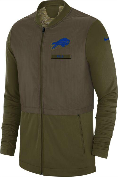 Nike Men s Salute to Service Buffalo Bills Hybrid Full-Zip Jacket ... fb9d0fd9f