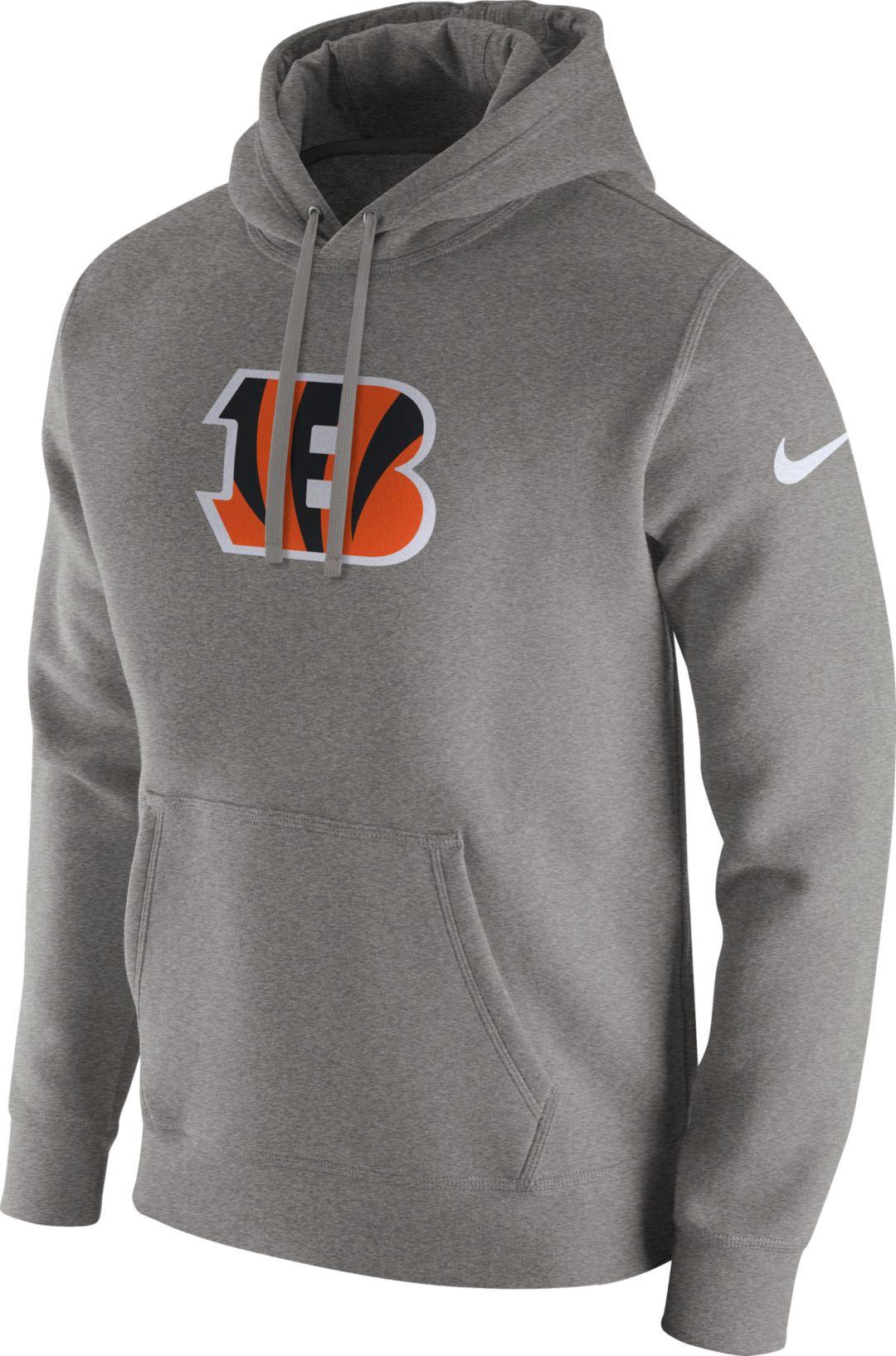 38e9d653 Nike Men's Cincinnati Bengals Logo Club Grey Hoodie