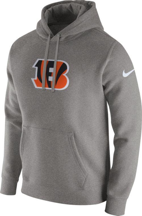 Nike Men s Cincinnati Bengals Logo Club Grey Hoodie  6f04bdad2f96