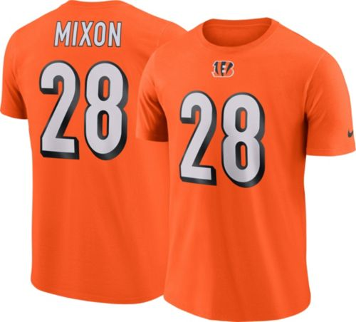 Top Nike Men's Cincinnati Bengals Joe Mixon #28 Pride Logo Orange T  for sale