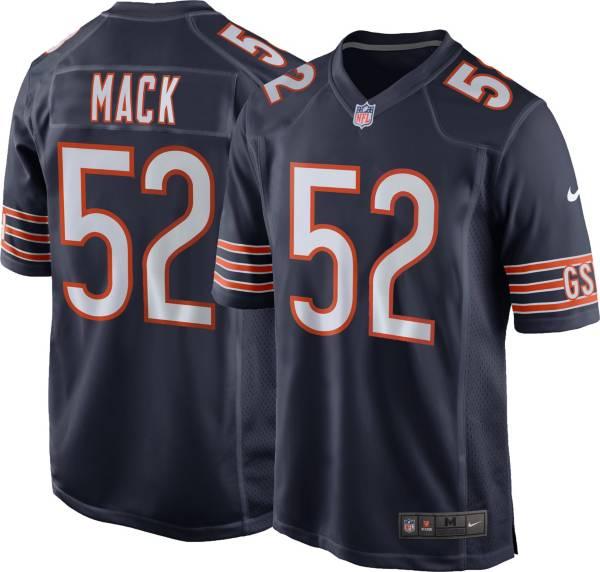 Nike Men's Chicago Bears Khalil Mack #52 Navy Game Jersey