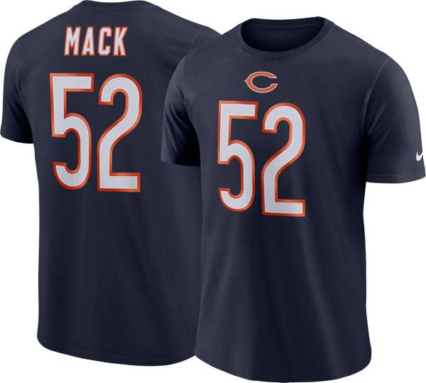 Nike Men's Chicago Bears Khalil Mack #52 Pride Logo Navy T-Shirt product image