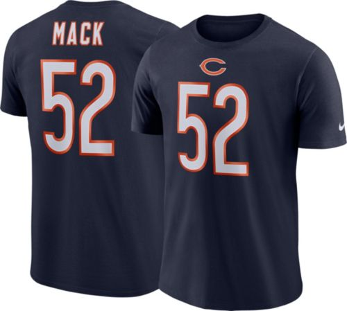 Nike Men s Chicago Bears Khalil Mack  52 Pride Logo Navy T-Shirt.  noImageFound. Previous 7061c22c8