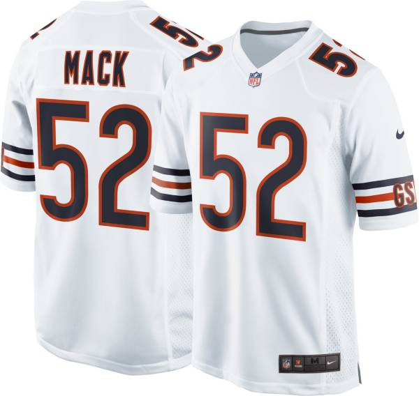 Nike Men's Chicago Bears Khalil Mack #52 White Game Jersey product image
