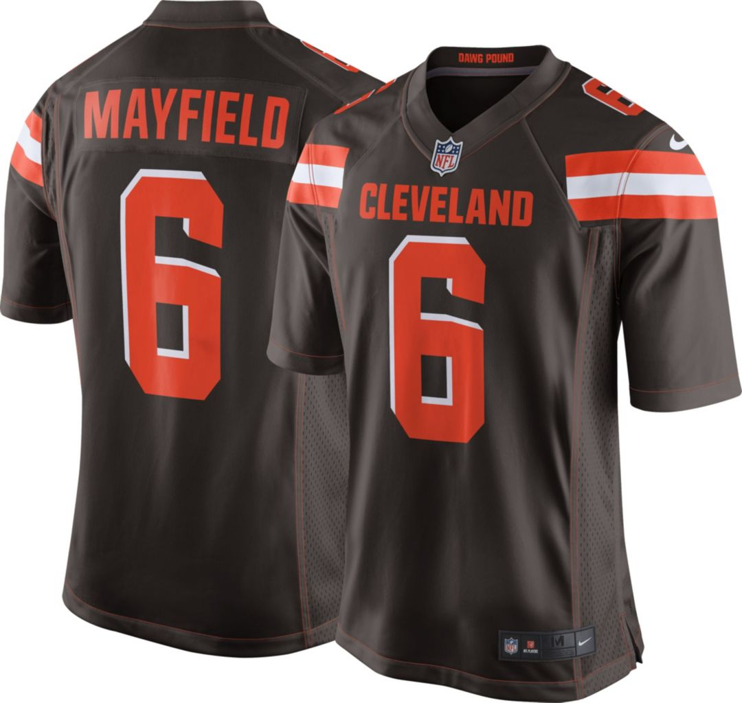 brand new 98085 f9e30 Baker Mayfield #6 Nike Men's Cleveland Browns Home Game Jersey