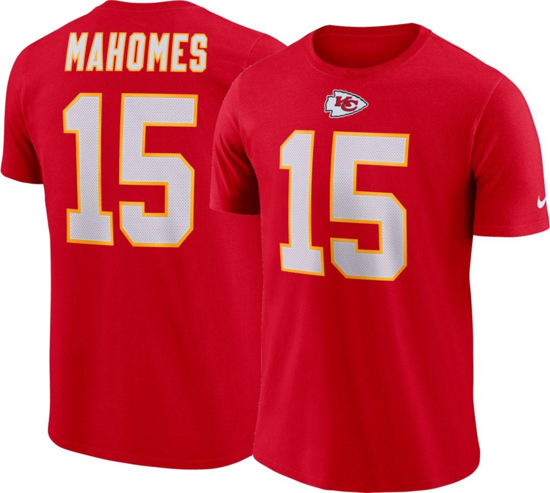 5bdff3e5 Patrick Mahomes #15 Nike Men's Kansas City Chiefs Pride Red T-Shirt ...