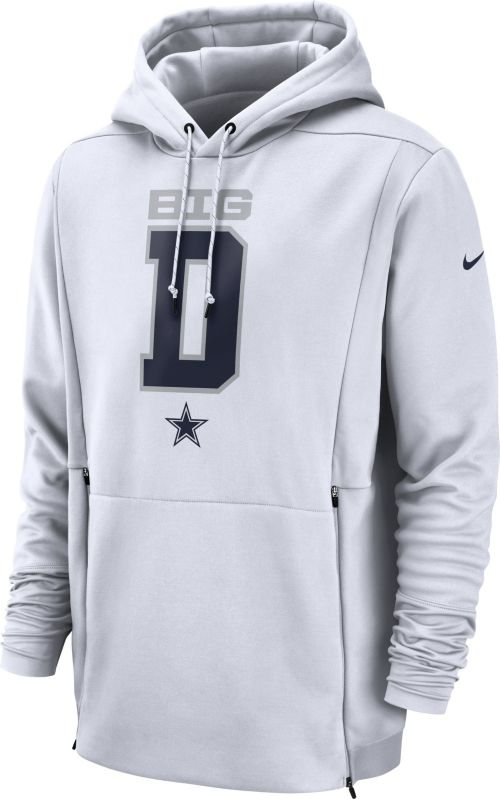 a71a69b3711 Nike Men s Dallas Cowboys Sideline Therma-FIT Local White Performance Hoodie.  noImageFound. Previous