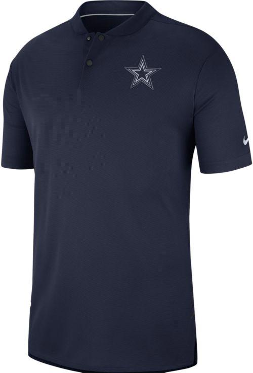Nike Men s Dallas Cowboys Sideline Elite Performance Navy Polo.  noImageFound. Previous f989965d2