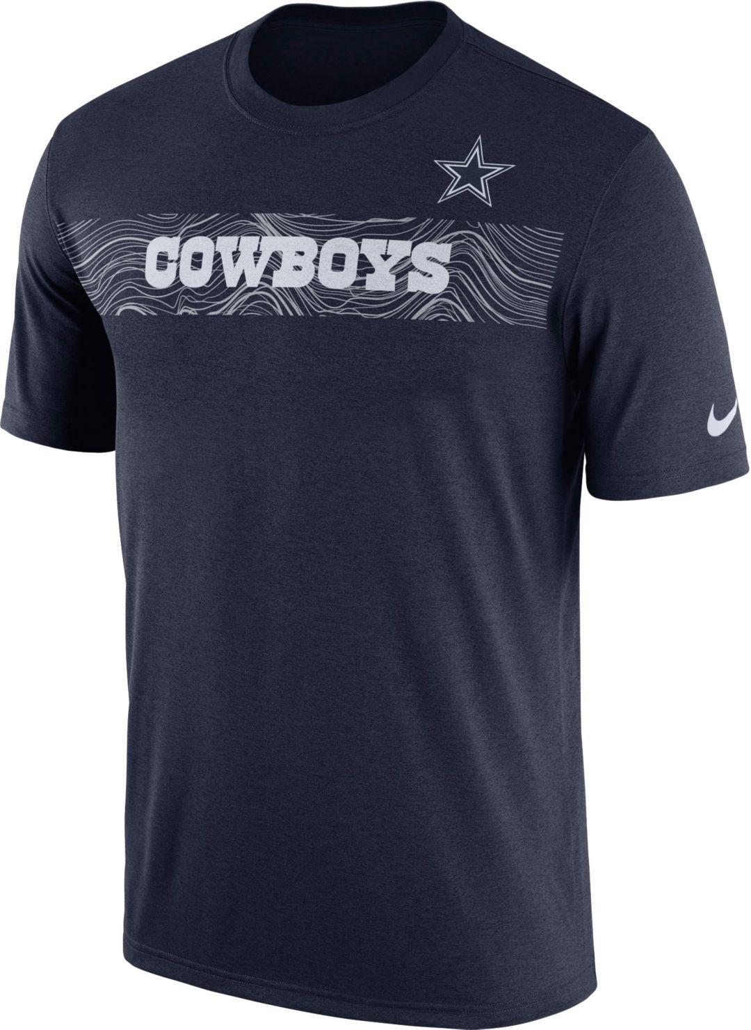 aceba1f6feaac Nike Men's Dallas Cowboys Sideline Seismic Legend Performance Navy T-Shirt.  noImageFound. Previous