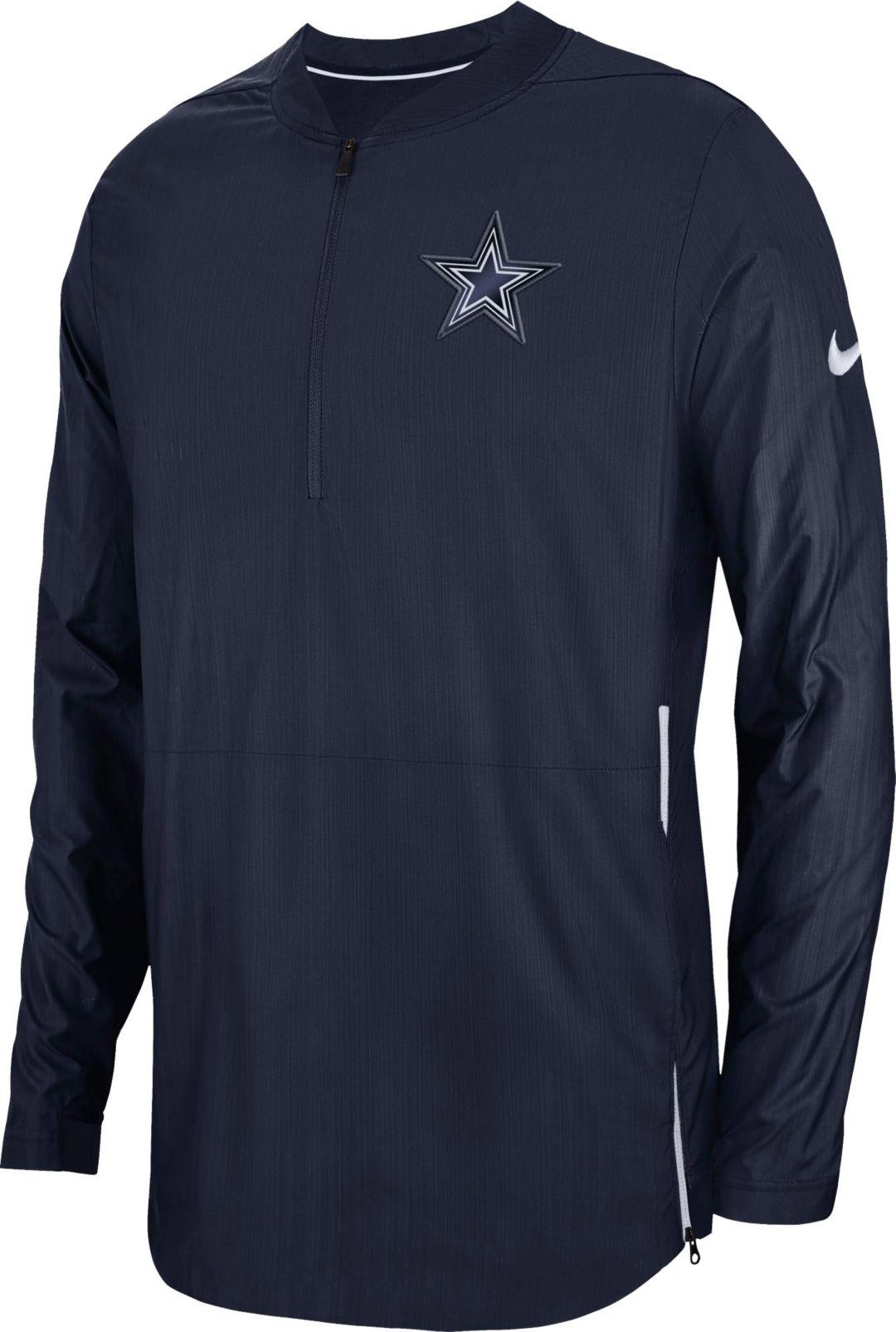 90191d880dc793 Nike Men's Dallas Cowboys Sideline Lockdown Half-Zip Navy Jacket.  noImageFound. 1