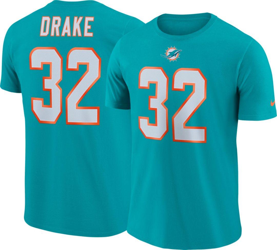 796bde79 Nike Men's Miami Dolphins Kenyan Drake #32 Pride Logo Aqua T-Shirt