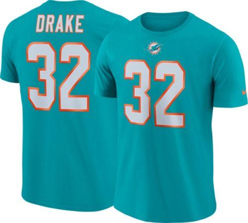 cheaper f1609 32b8b Nike Men s Miami Dolphins Kenyan Drake  32 Pride Logo Aqua T-Shirt ...