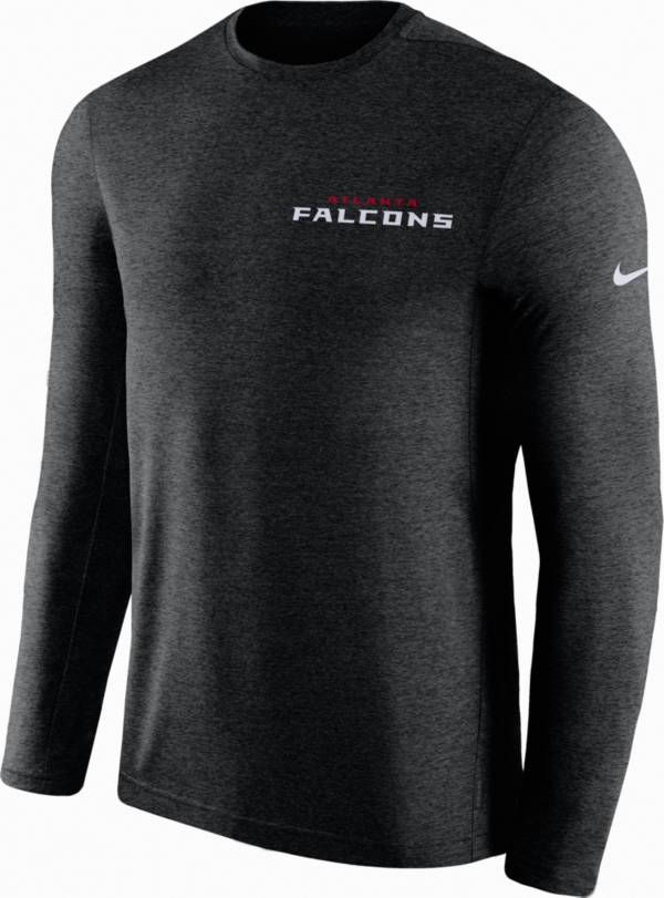 Nike Men's Atlanta Falcons Sideline Coach Performance Black Long Sleeve Shirt product image