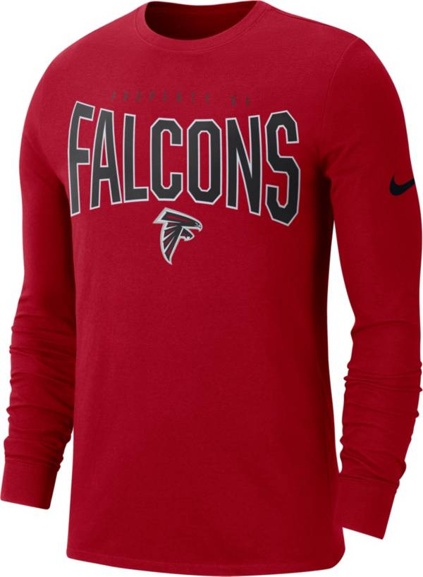 Nike Men's Atlanta Falcons Sideline Property Of Long Sleeve Red Shirt product image