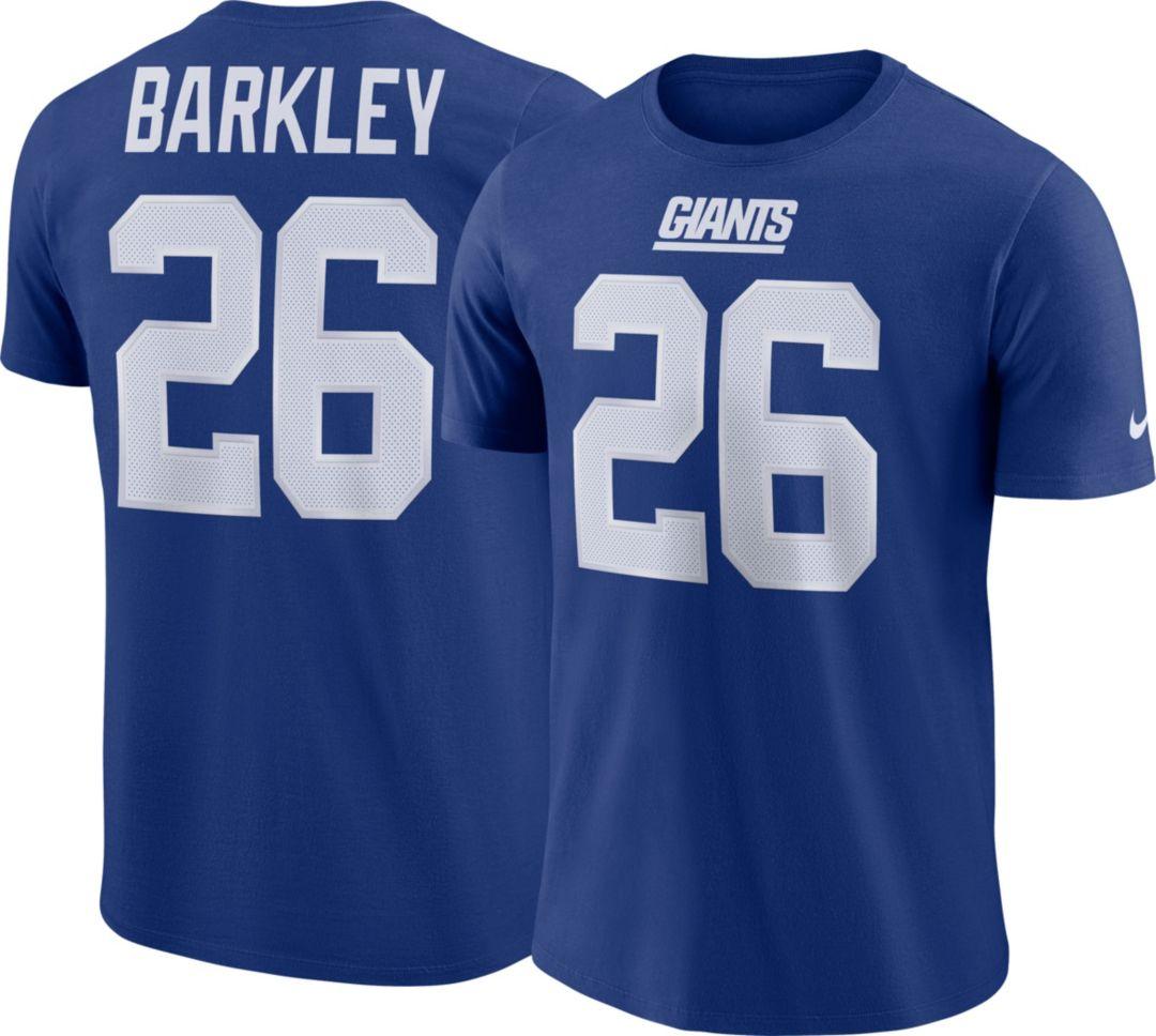 7a787734 Saquon Barkley #26 Nike Men's New York Giants Pride Blue T-Shirt ...