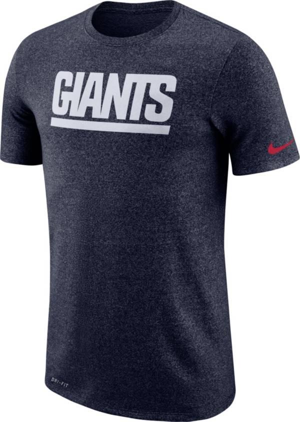 Nike Men's New York Giants Marled Historic Performance Navy T-Shirt product image