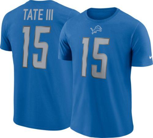 68c4f336d Nike Men s Detroit Lions Golden Tate  15 Pride Logo Blue T-Shirt ...
