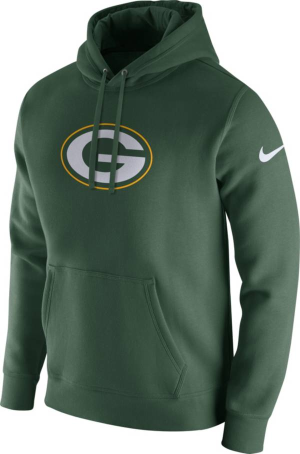 Nike Men's Green Bay Packers Logo Club Green Hoodie product image
