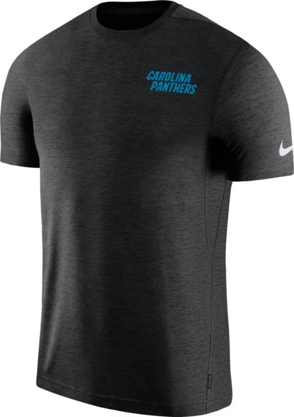 Nike Men's Carolina Panthers Sideline Coach Performance Black T-Shirt product image