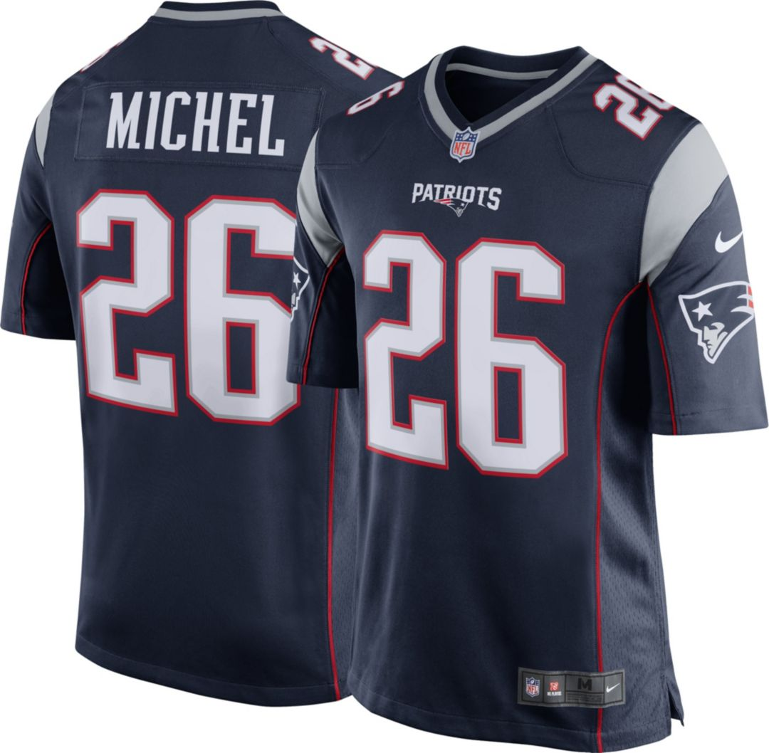 06d8cba12 Nike Men's Home Game Jersey New England Patriots Sony Michel #26 ...