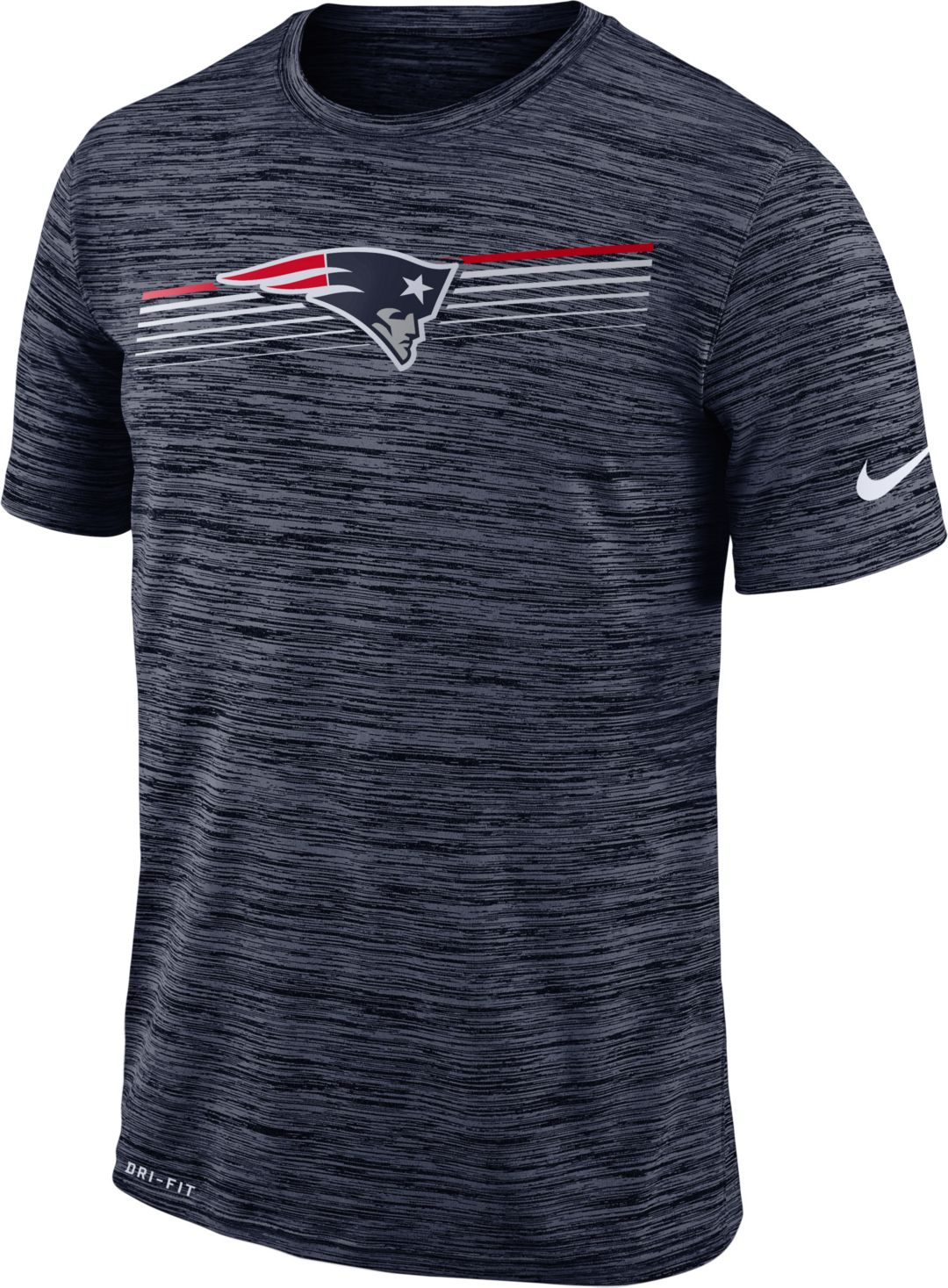 c3fb1672 Nike Men's New England Patriots Sideline Legend Velocity Navy T-Shirt