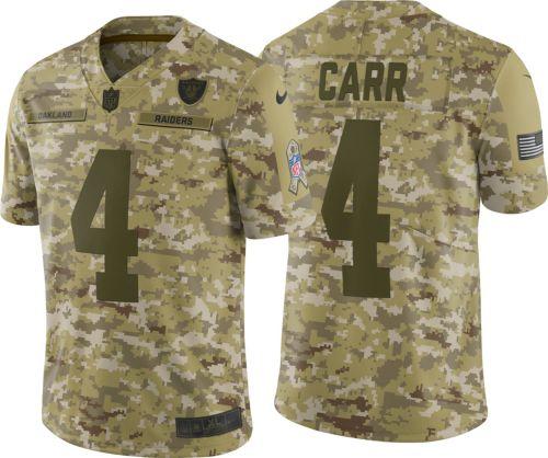 aa1d44e0d Nike Men's Salute to Service Oakland Raiders Derek Carr #4 ...