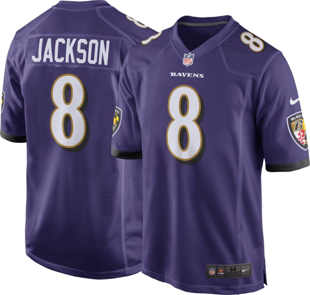 promo code a63a7 37078 Lamar Jackson  8 Nike Men s Baltimore Ravens Home Game Jersey.  noImageFound. Previous
