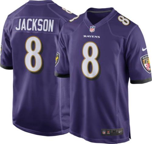 a22cd9bd0 Lamar Jackson  8 Nike Men s Baltimore Ravens Home Game Jersey ...
